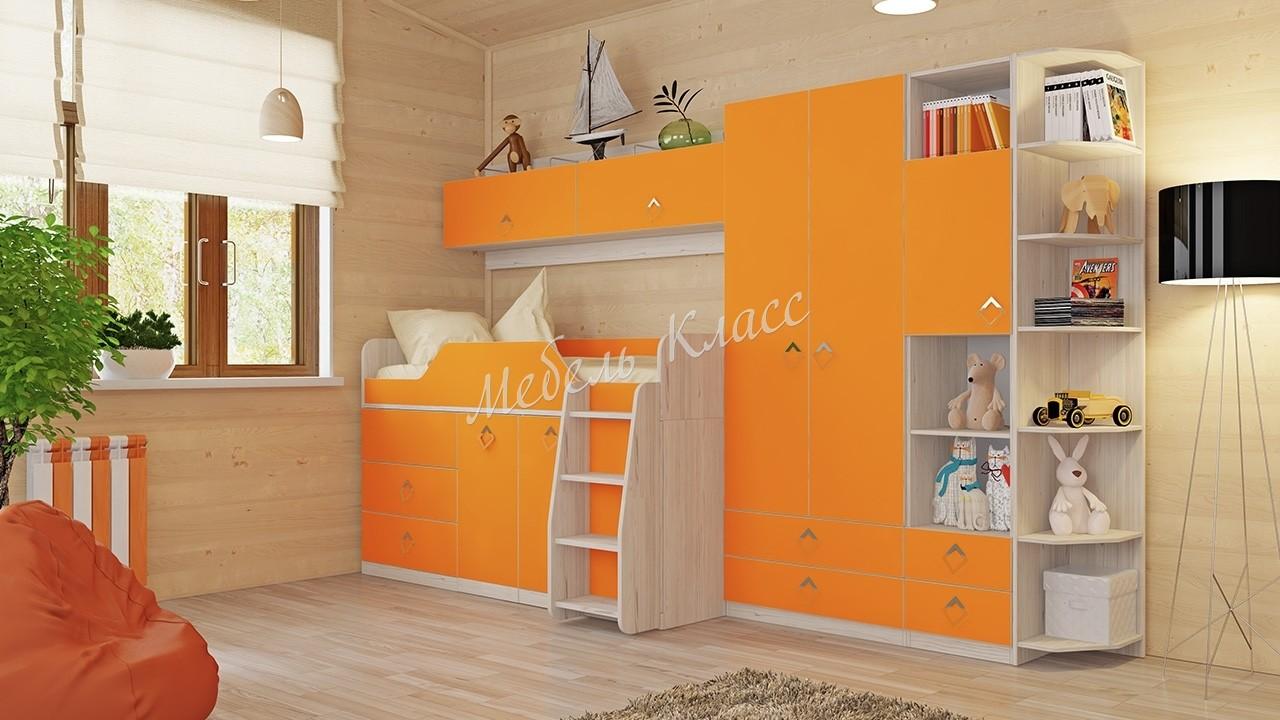 «Аватар» модульная мебель для детской комнаты манго