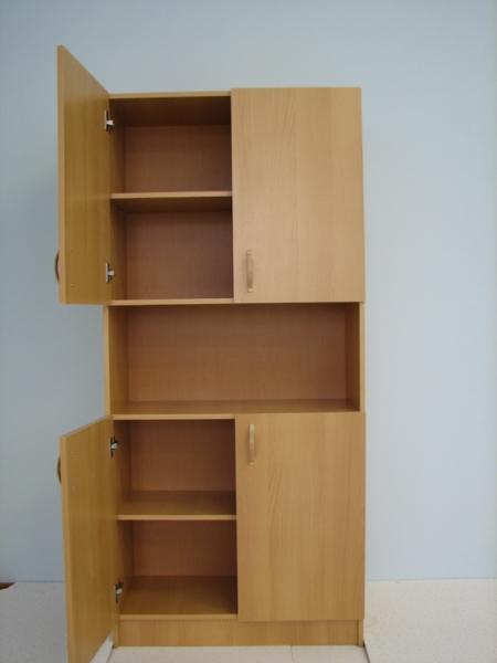 Шкаф четырехдверный с нишей для документов