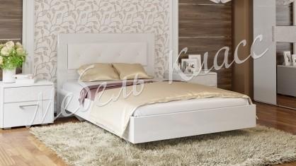 Кровать 1200 с мягкой спинкой «Амели»
