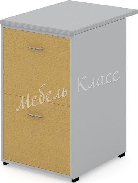 Тумба приставная (ДСП) с ящиками, 47.2x60x72, серый+бук рио
