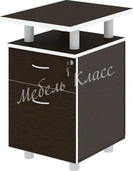Тумба приставная с файловым ящиком, 45x60x75, дуб ферраре + серый