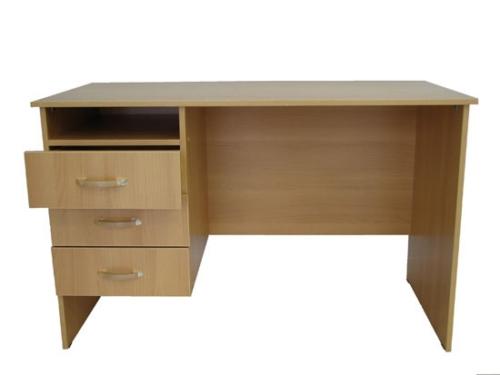 Стол офисный однотумбовый с выдвижными ящиками