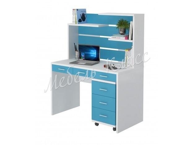 Компьютерный стол детский Мрамор-32Н