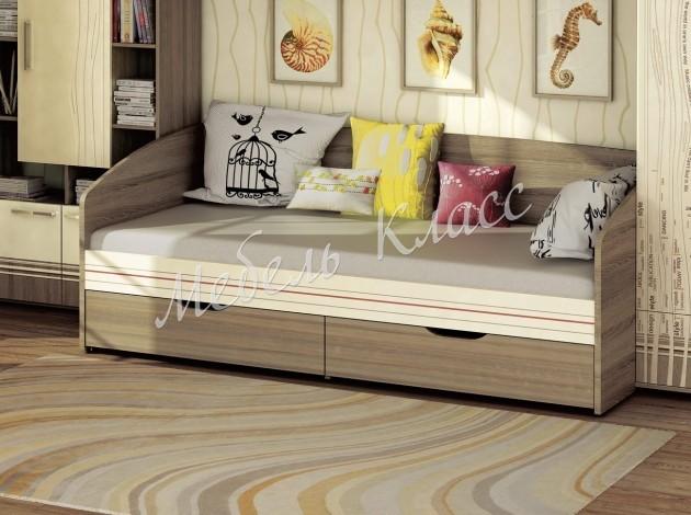 Детская кровать-тахта с ящиками для белья Бриз 11