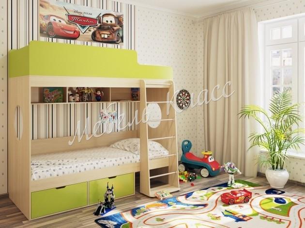 Двухъярусная кровать Милана-2 Дуб
