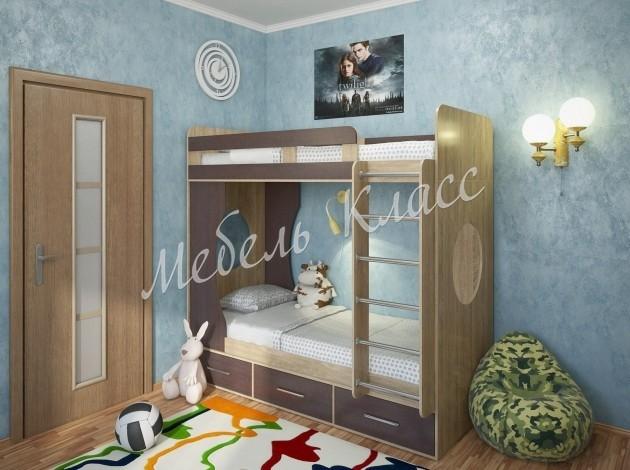 Двухъярусная кровать Милана-1 Сонома