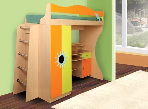 Детская двухъярусная кровать со шкафом Д1 (стандарт)