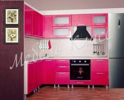Кухня Венеция цвет малина
