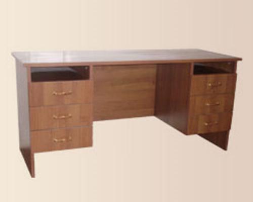 Стол офисный двухтумбовый с выдвижными ящиками
